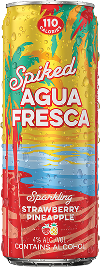 Spiked Agua Fresca Sparkling Strawberry Pineapple
